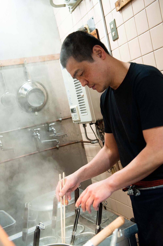 店主の森田昌和さんは、下北沢の『中華そばこてつ』で修業した。