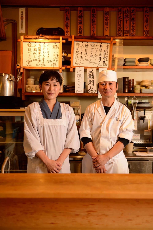 主人の齋藤良さんとスタッフの横手さん。
