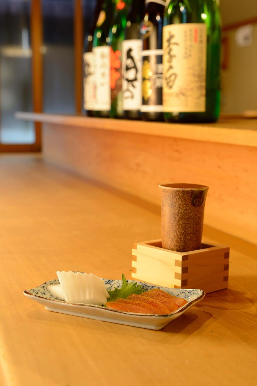 酒がすすむ自家製からすみ1400 円。