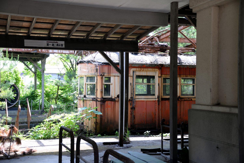 鶴岡駅と湯野浜温泉を結んでいた庄内交通湯野浜線の善宝寺駅跡。