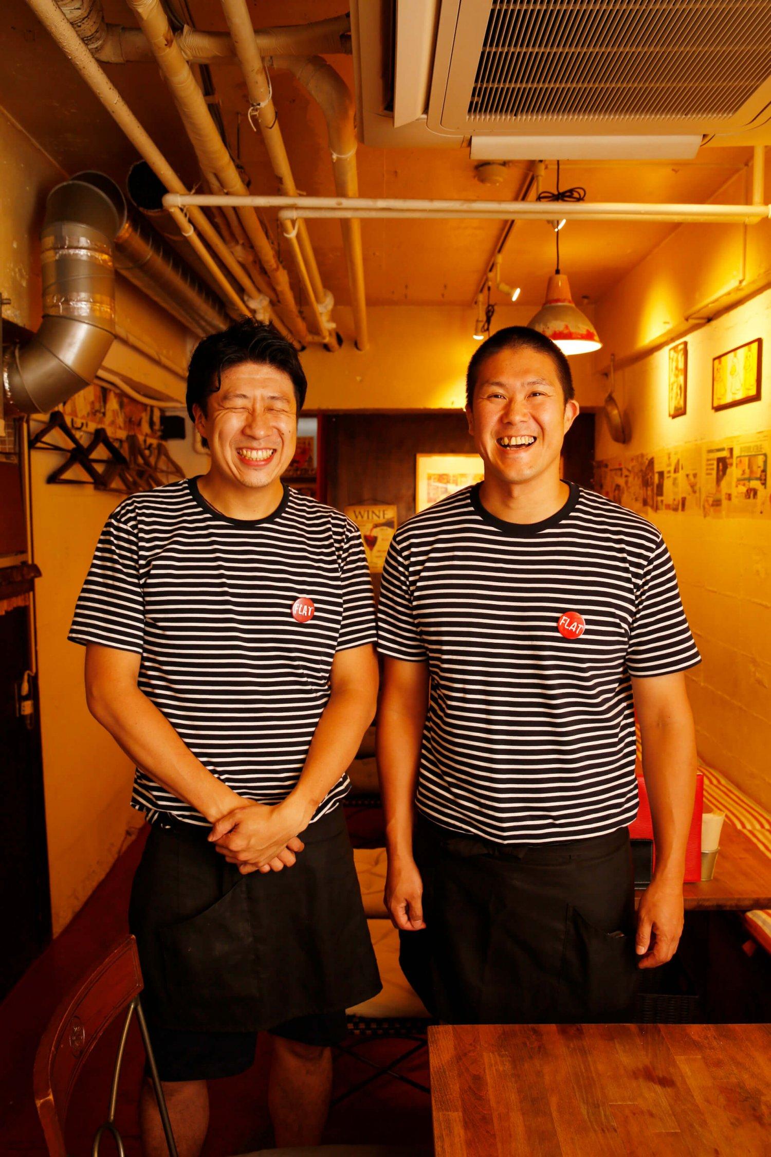右から矢吹さん、阿部剛大さん。