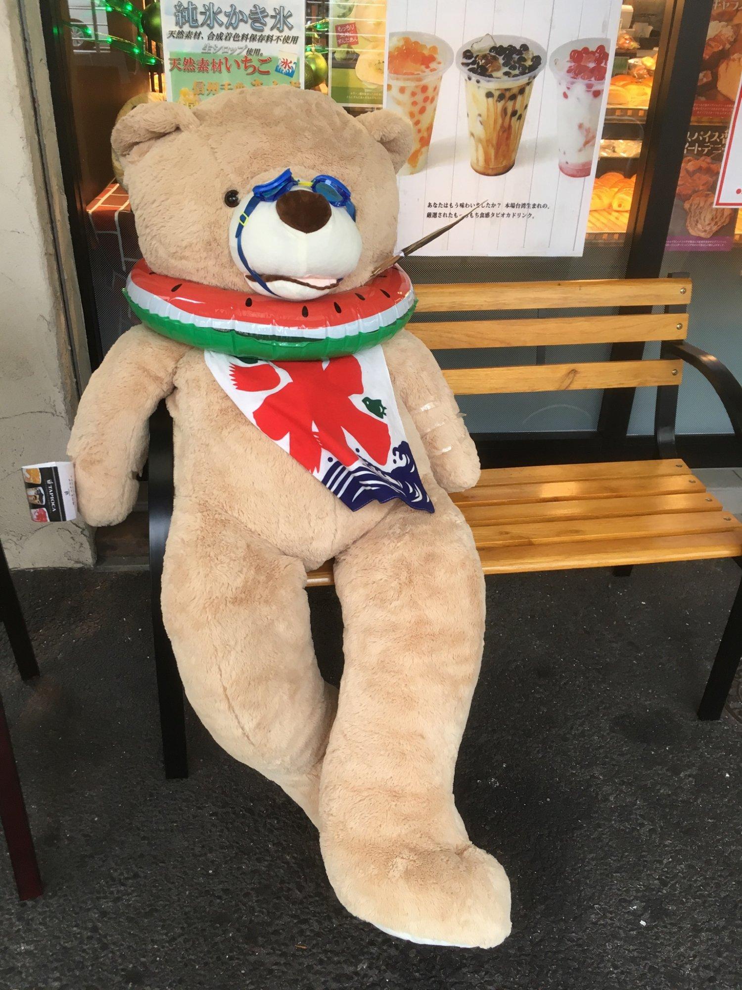 田原町の某店の熊(夏)