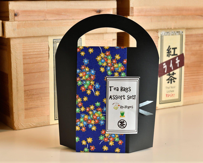 3種類のおすすめが2パックずつ入るTea Bagsアソートセット1300円。