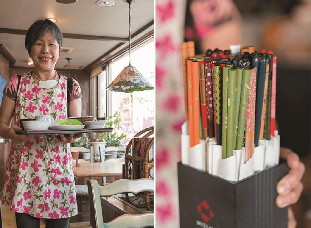 常連客にプレゼントしたMY箸。「名前は書いていないけど、どれが誰の箸か全部覚えているんですよ」と鈴木さん。