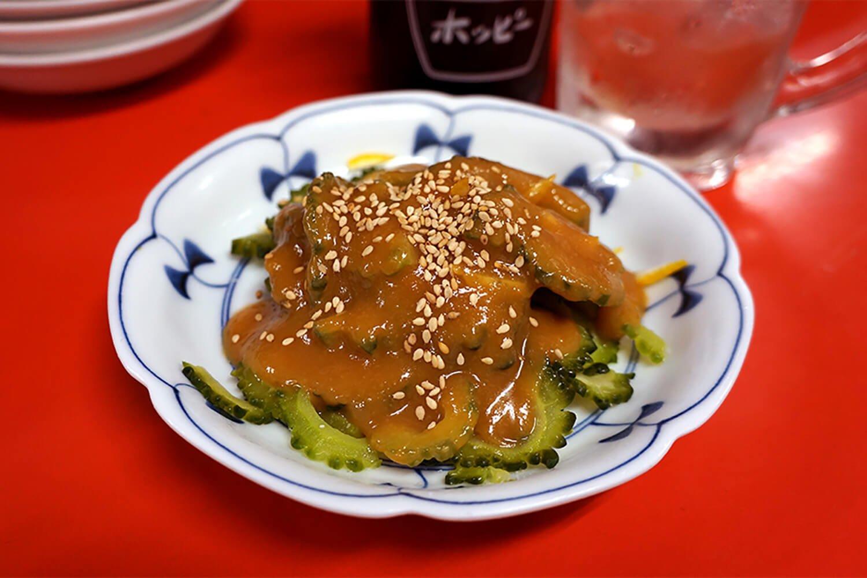 ゴーヤの酢味噌和え570円
