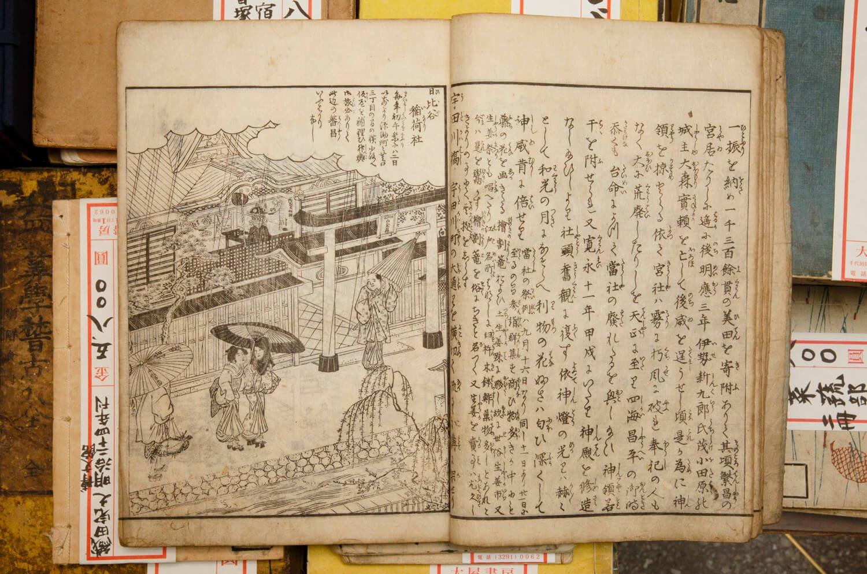 町の由来や名所案内の正確さから今も第一級の江戸資料である名著『江戸名所図会』天保5年(1834)~刊。