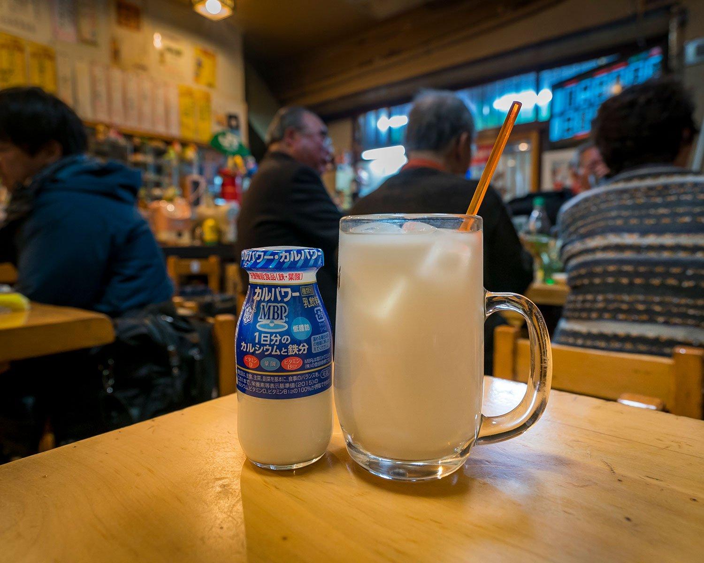 牛乳ハイ420円。