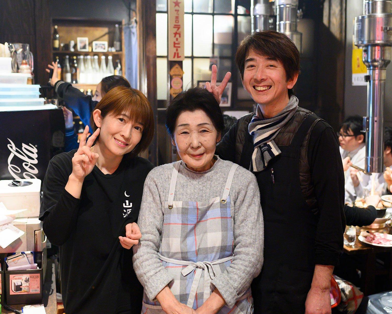 チエ子さんと店主、妹さん。