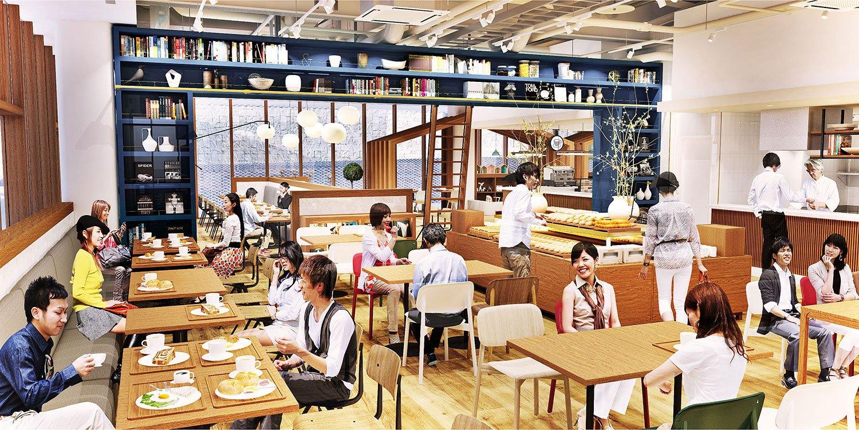 社員食堂でもある「角川食堂」だが、誰でも利用できる。 ©️2019 MANERE Co., Ltd.