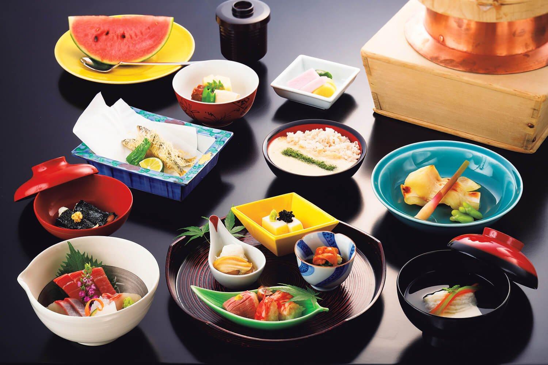 懐石料理「金龍」1万1000円。※料理内容は、月毎に替わります。
