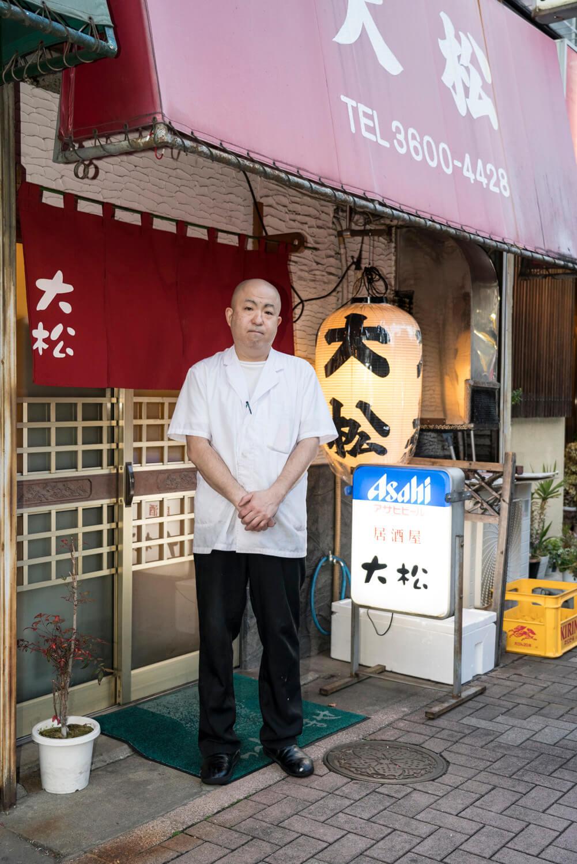 松島さん。店は1974年に開業。
