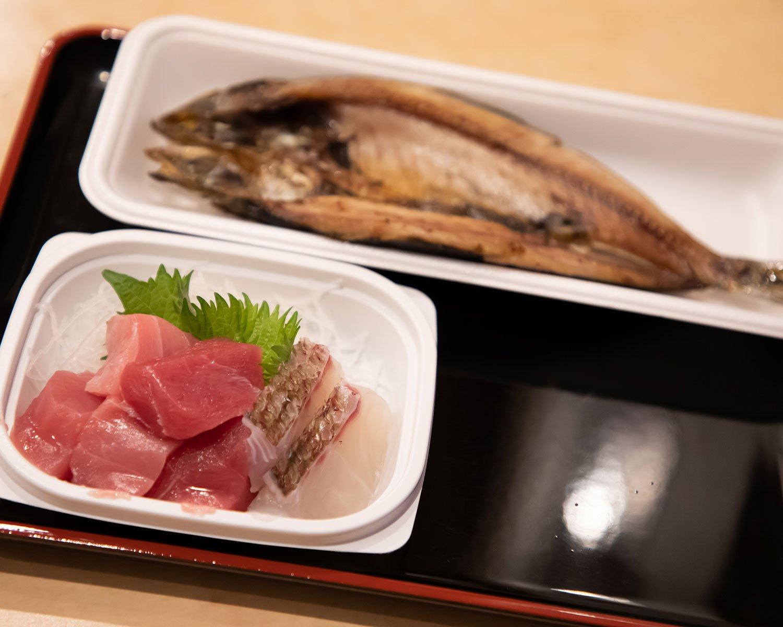 刺身2点盛り400円は外せないが、別海の水産加工場から直送された干物もぜひ味わってほしい。