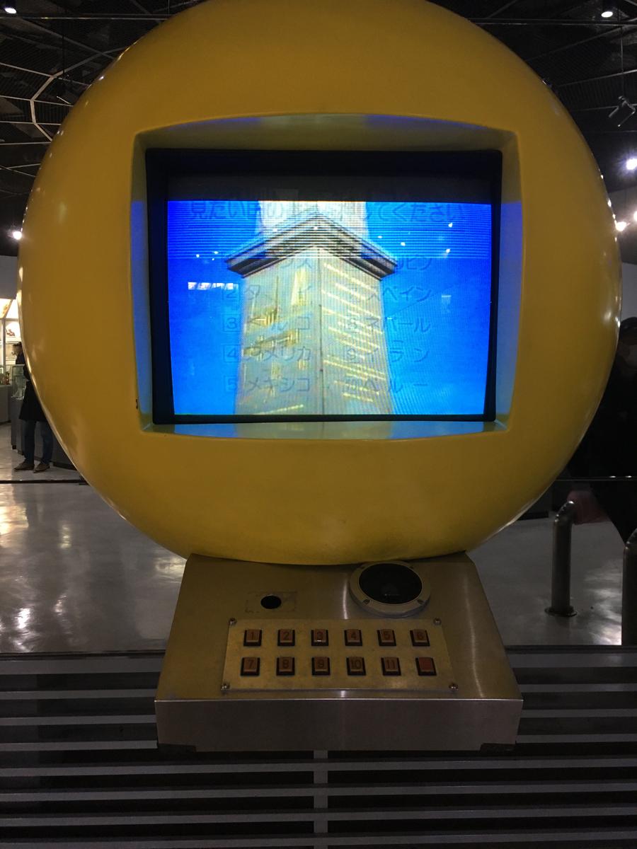 館内のビデオモニター