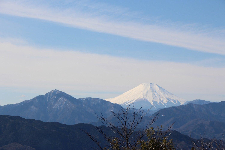 天気がいいと、山頂からは富士山がよく見える。