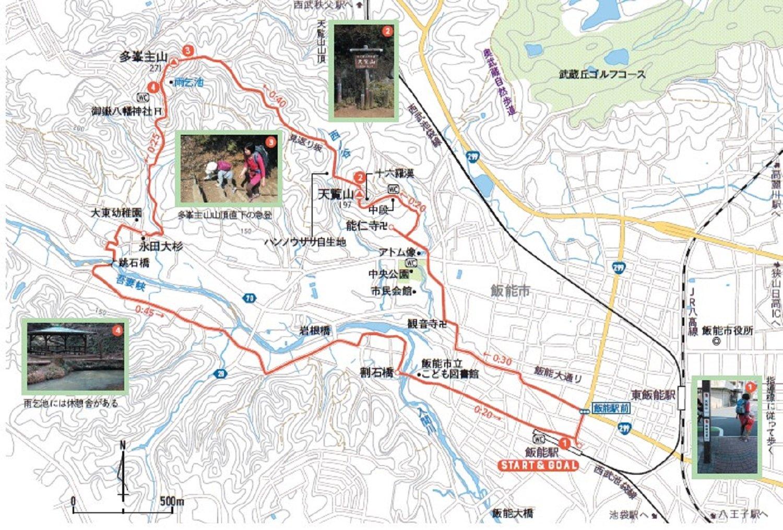 親子で山登り 埼玉県天覧山 天覧山MAP