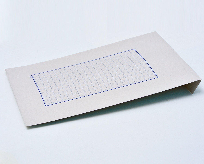 原稿封筒。表に原稿用紙をプリントした封筒。何か書き添えて渡す時などに重宝する。この店の商品はこういう工夫が抜群にうまい。3サイズ展開418円~528円。