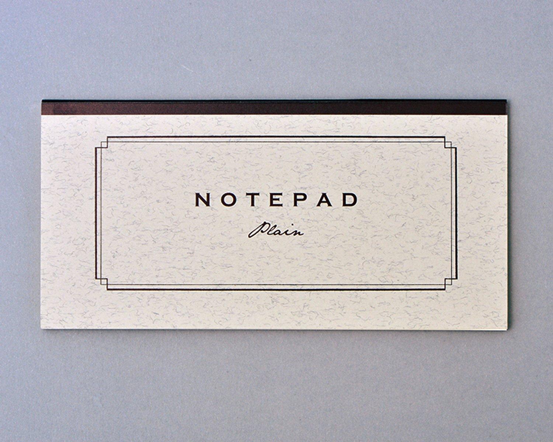 NOTEPAD。タテヨコ自在の一筆箋。ツバメノートとコラボ。各種440円。