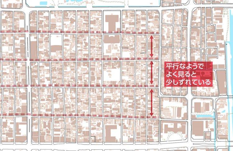 【地図はよみもの】見比べて楽しむ! 東西で様相異なる日暮里、札幌・京都・奈良「碁盤の目」の違い