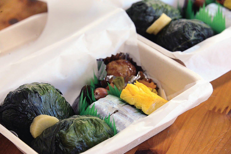 めはりすしなどを詰め合わせた弁当580円(前日までに要予約)