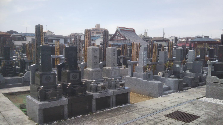 北総線新柴又駅近くにある題経寺の墓地。第22作では車家の墓は題経寺内にあった様子。近年、移転したか。