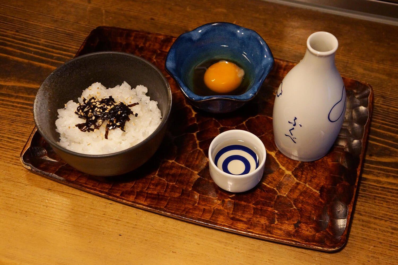 奥久慈 玉子かけごはん450円。