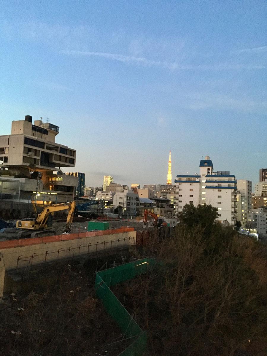 昔はどこからも見えたはずの東京タワー。(撮影=町田)