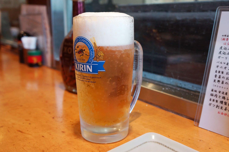 梅雨の晴れ間の生ビール。言葉が出ない!