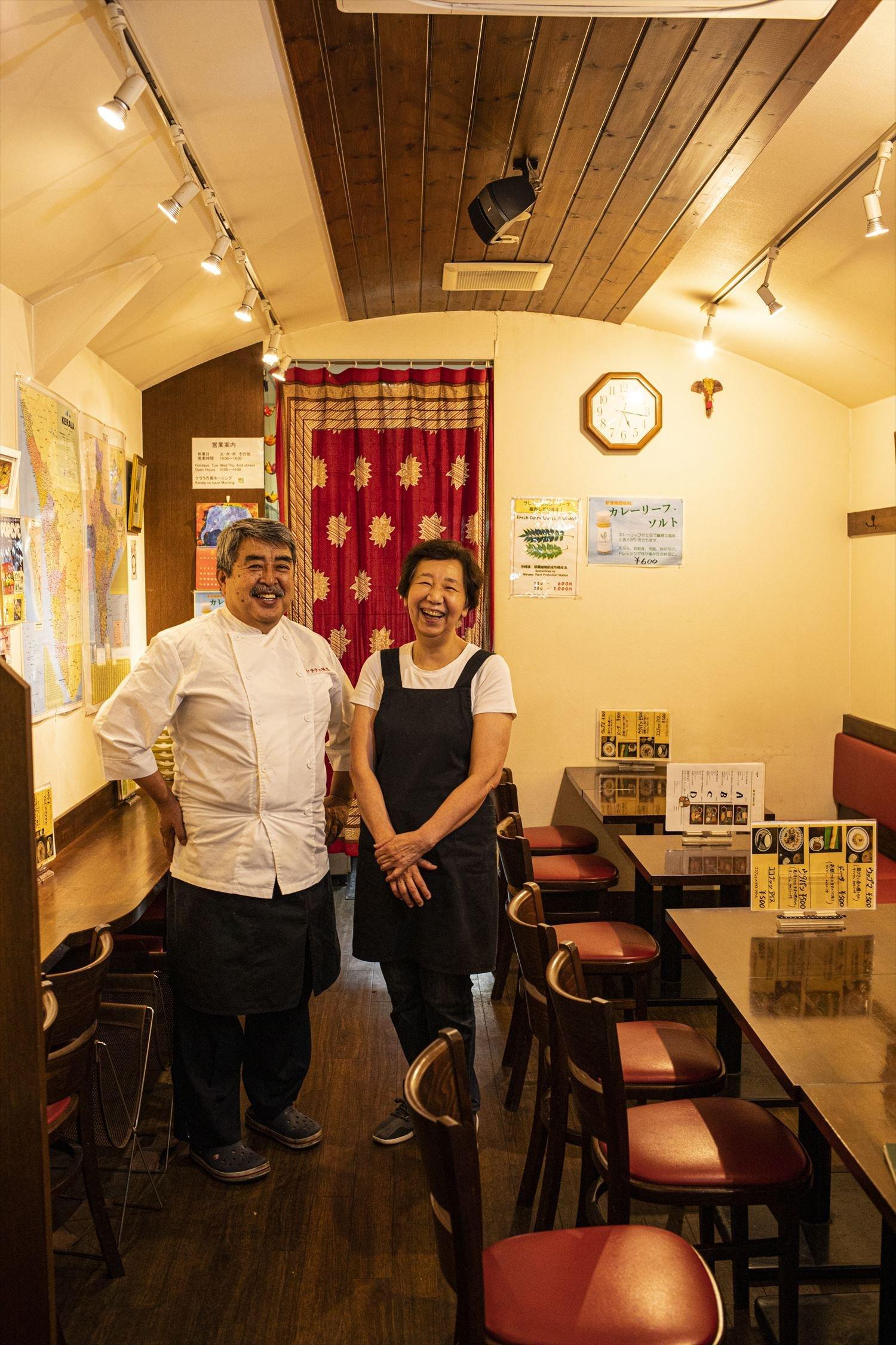 匡彦さんと妻・恵美子さん。「お茶を飲むだけでも大歓迎」と、にっこり。