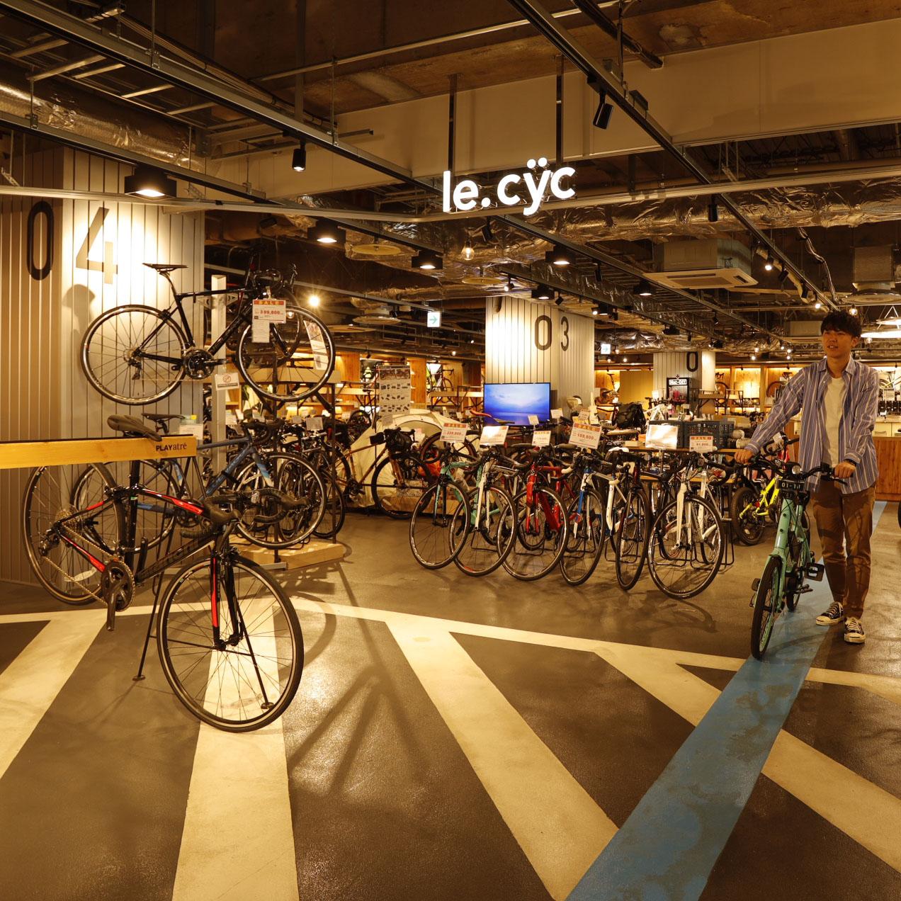 自転車専門店『ル・サイク』では、さまざまな種類のレンタサイクル をラインナップ。気に入った自転車と同じものを次の自分の愛車に、 なんていうのもアリ。10:00~20:00。☎029-846-3192