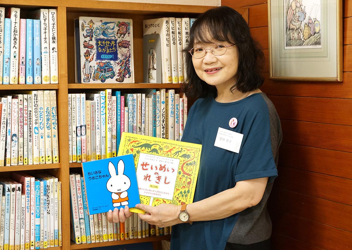 この日、施設を紹介してくれた吉田さん。「少ない時間でしたが、石井桃子さんと実際に関わった時間は宝ものです」と話してくれた。