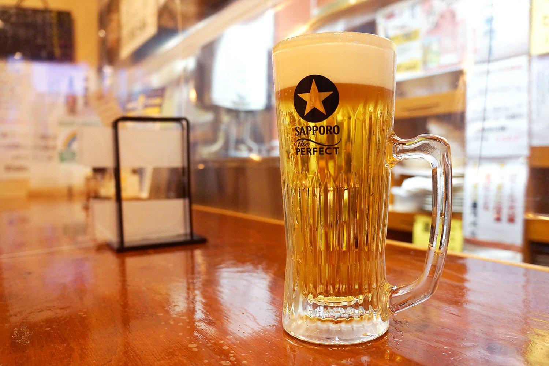 こちらがそのパーフェクトな生ビール!
