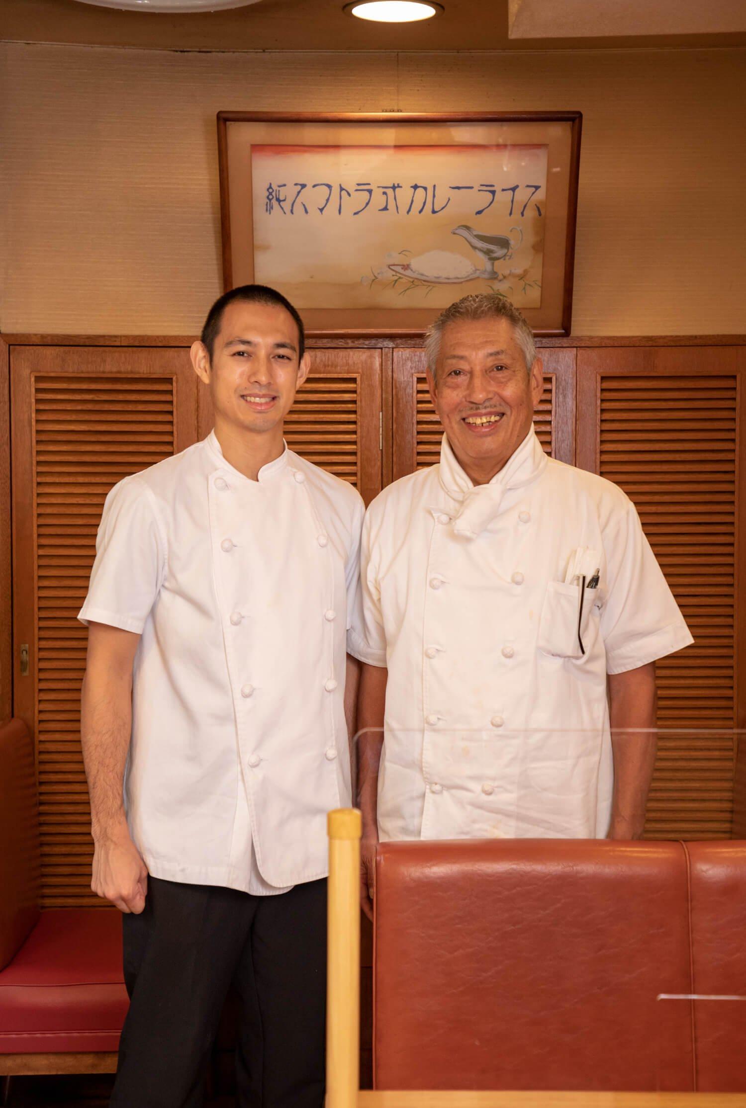 3代目の宮川泰久さんと、消防士から転職したという後継ぎの悠太さん。