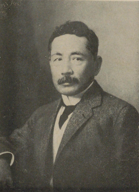 夏目漱石(国立国会図書館デジタルコレクションより)。