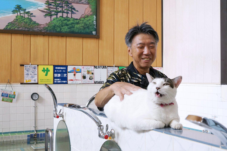 澤さんとぐーちゃん。甘え鳴きの最中。