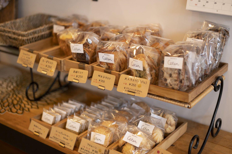 明太子やチーズなどラスクの種類も豊富でやみつきの味。