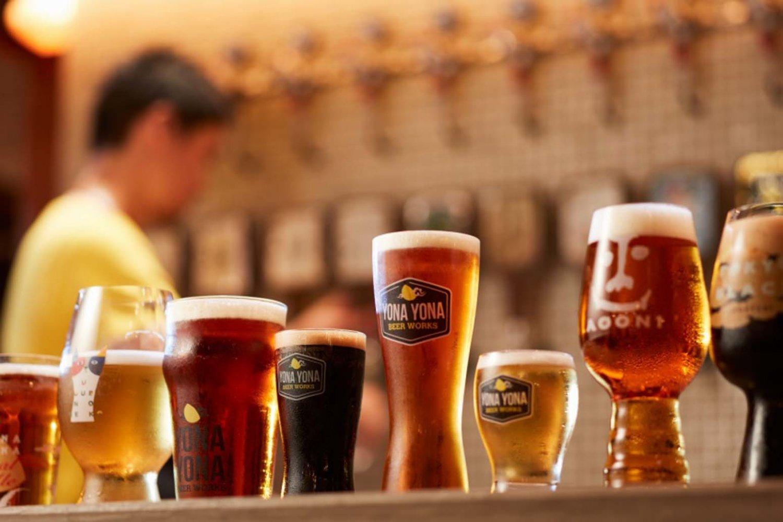 さまざまな味わいのクラフトビールがあるので、好みの一杯を見つけてみよう。