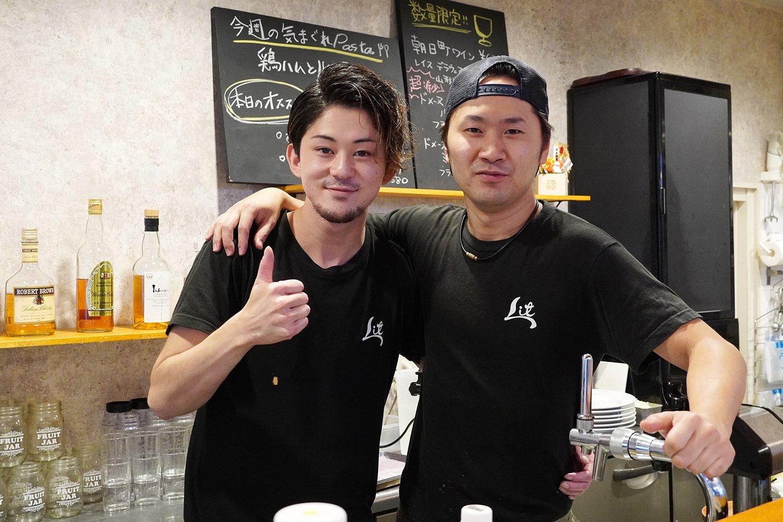 左が松澤さん、右が料理長の堀さん。本当に仲が良さそう。