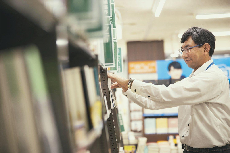 杉本さんはビジネス書担当。テレワーク関連の本がよく売れている。