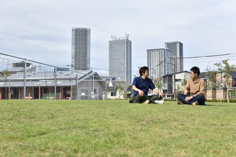 高田小学校跡の雑司が谷公園は2020年の春に開園したばかり。「4巻のおまけに登場しますよ」。