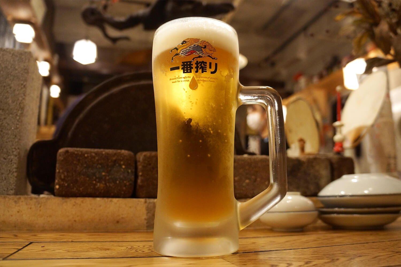 生ビール500円。