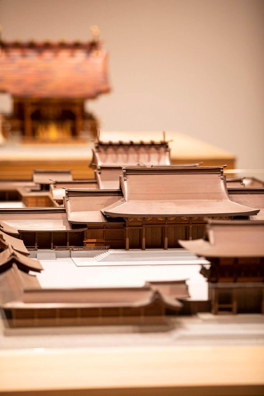 明治神宮境内の模型。