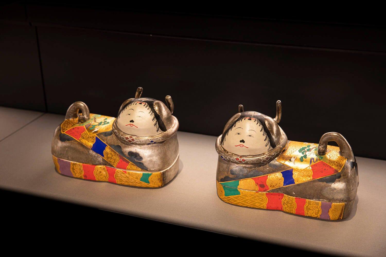 特別展の展示品にあった犬筥(いぬばこ)。ひな人形と共に飾られる道具のひとつ。※2020年10月現在は展示されておりません