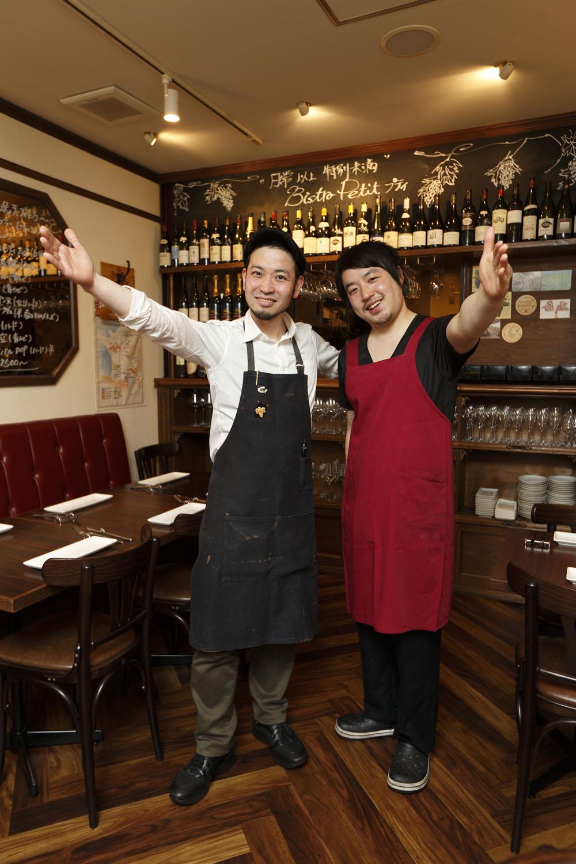 オーナーの中沢隆文さん(左)とシェフの野添俊二さん。
