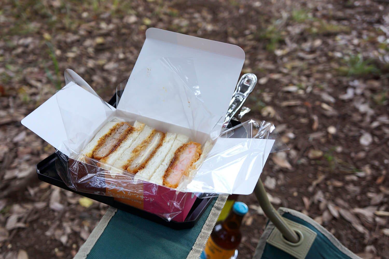 絶好のサンドイッチ置き場に。