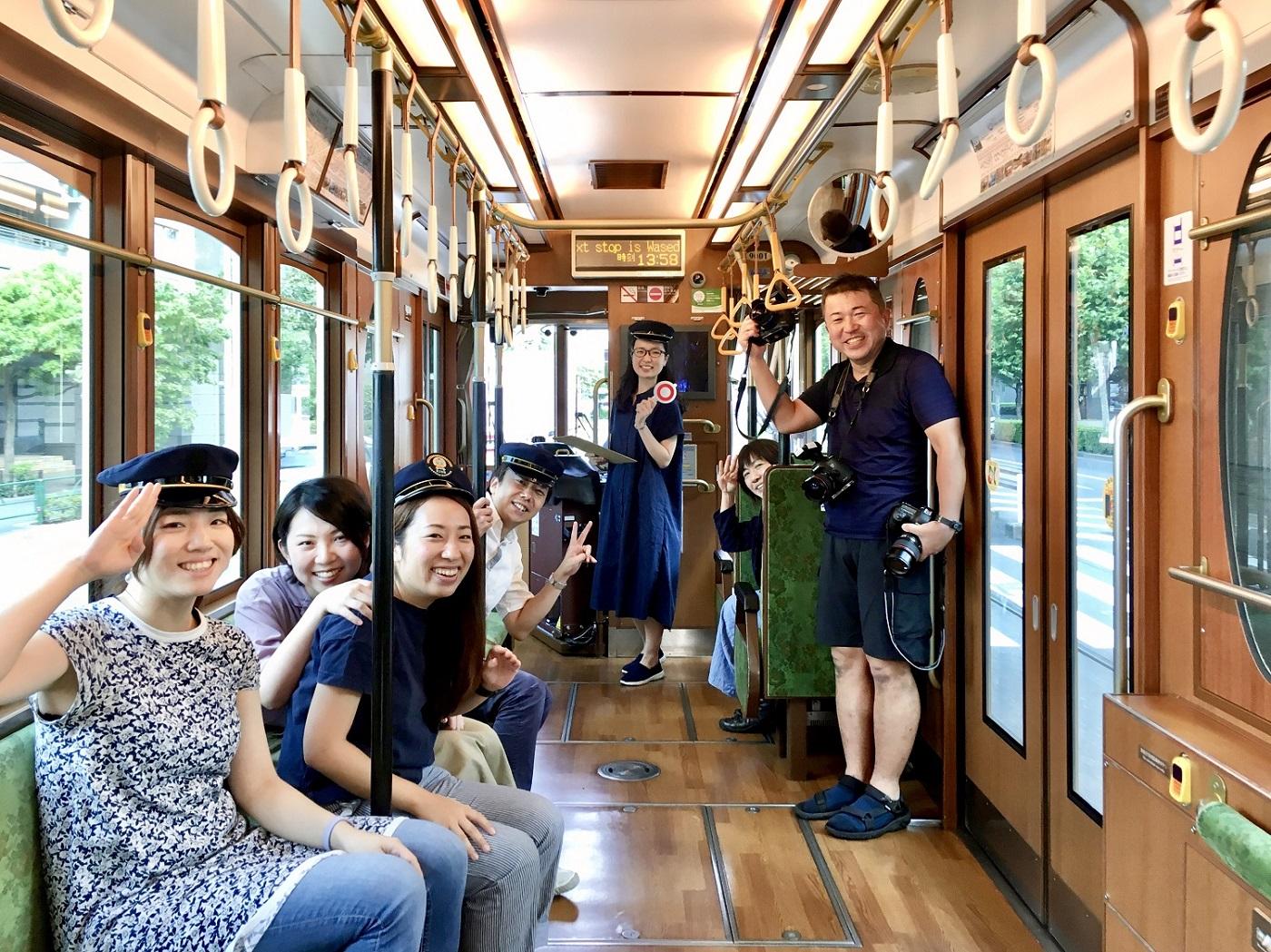 2019年10月号特集「LOVE鉄道!」の企画で都電を貸し切り!
