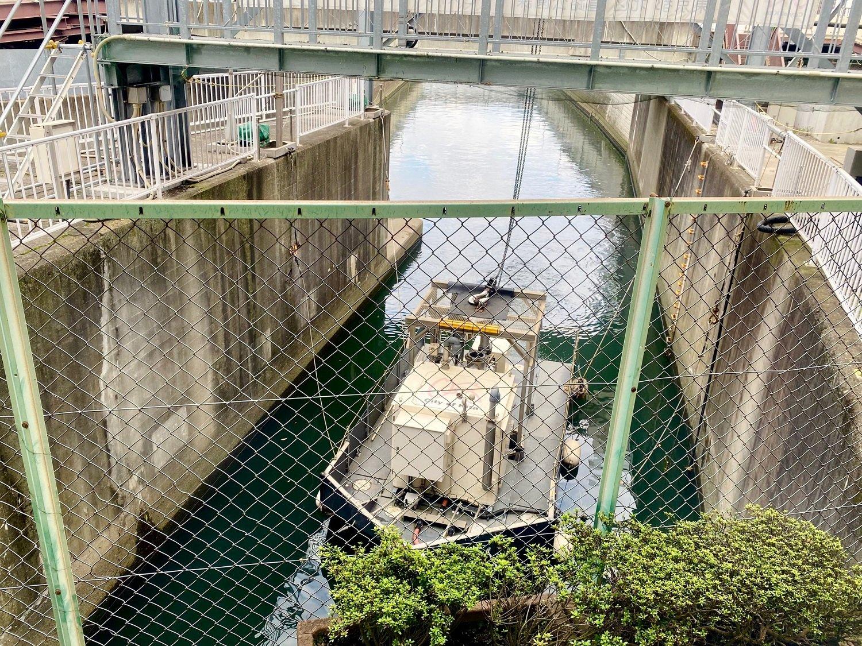 もう少し先で隅田川に注ぐ石神井川。