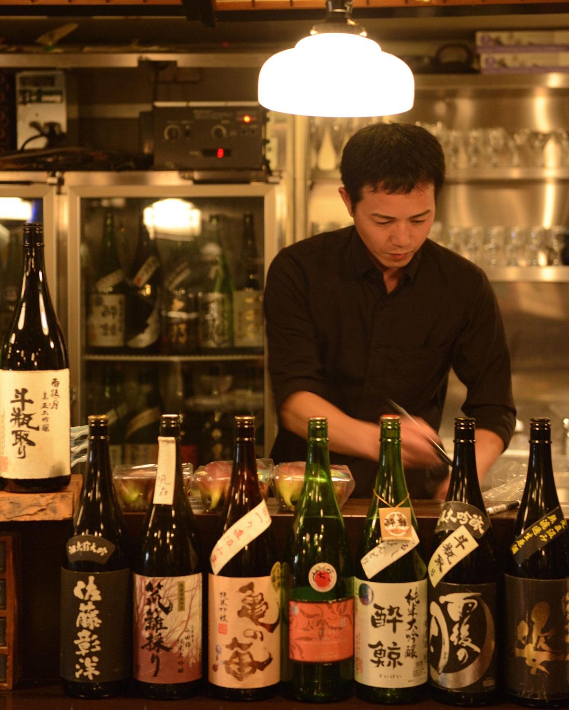 日本酒はショット75ml、150mlなど。