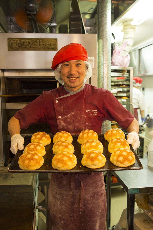メロンパンやあんぱんなど「日本発のパン」も大事にしていると話す朝倉さん。