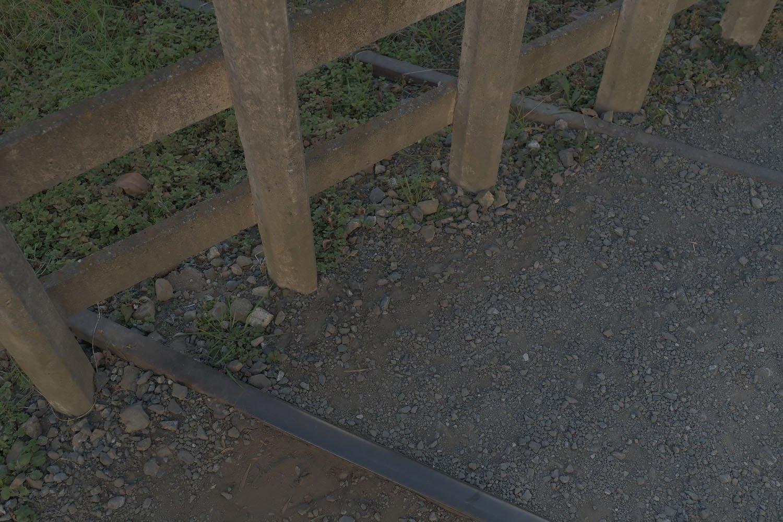 コンクリートの柵が設置されてから、もうだいぶ月日がけいかしているようだ。
