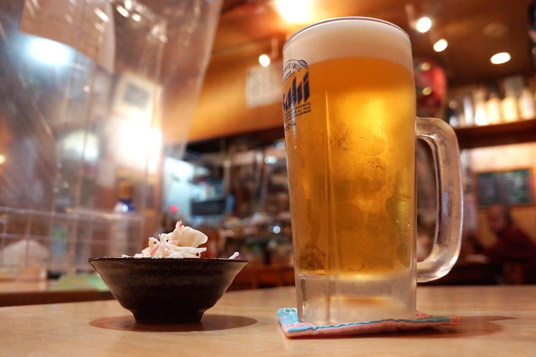 まずは生ビールから!